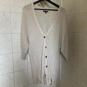 American Eagle slouchy knit cardigan, tan